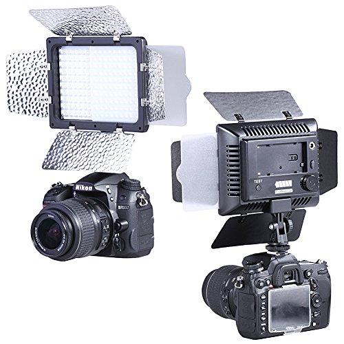 Bestlight W300 LED Studio 6000K Visiera Luce di Uscita Continua d¡¯illuminazione di video con supporto e filtri di fotocamera per Sony, Canon, Panasonic, Hitachi, Samsung e altre fotocamere digitali