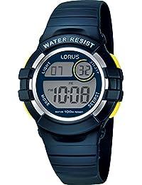 Lorus Digital Chronograph Blue Reisn Strap Youth Watch R2381HX9