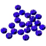 2880 piezas de strass termoadhesivo (3,8-4 mm, bruto, 16SS), color azul