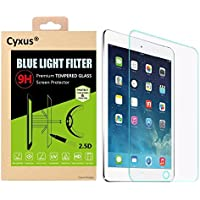 Cyxus filtro de luz azul pantalla [mejor sueño] 9H protector de pantalla de vidrio temperado para apple ipad mini 4(7,9 pulgada)