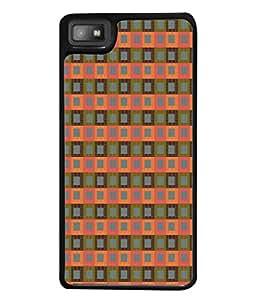 PrintVisa Designer Back Case Cover for BlackBerry Z10 (Box Chque Square Grey Pink Matty )