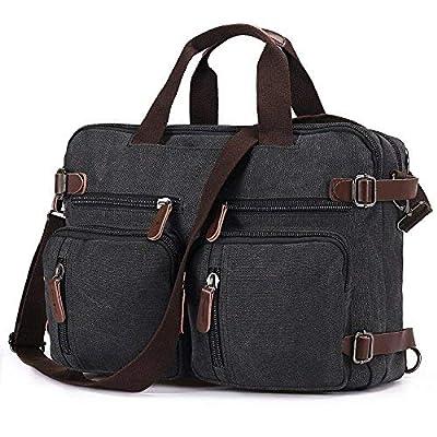Baosha HB-22 Vintage Sac à dos en Toile Sacs à main Ordinateur Portable Mallette Sac d'affaires Épaule Sac à dos de Voyage et Randonnée pour Hommes