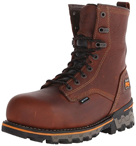 Timberland PRO Men's 8 Inch Boondock Composite Toe WP Work and Hunt Boot, Brown Tumbled Leather, 11 W US Composite Toe Boot