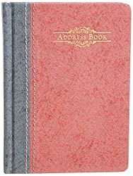 Nightingale Rayon Series Address Book - D Design, 192 Pages, A6