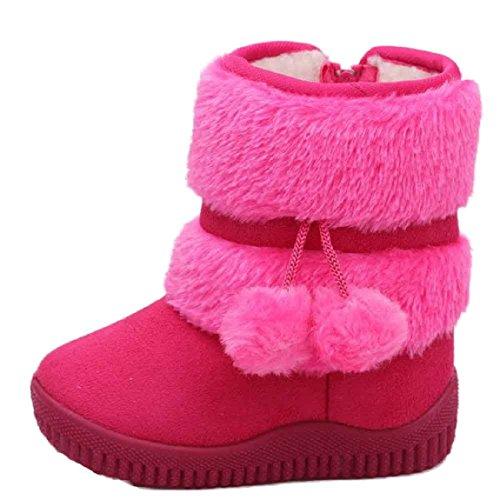 Malloom Mode Winter Baby Mädchen Ball Schuhe Warm Schnee Stiefel (25, Hot Pink) Hot Pink