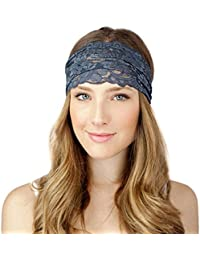 Malloom® 1 pieza Mujer bohemio dulce encaje Flor diadema cinta pelo Headband