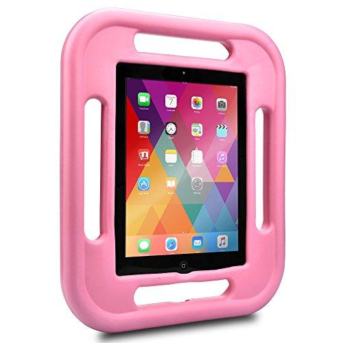Custodia iPad 4 3 2 Cover Bambini, Cooper GRABSTER Protettiva Gomma Rigida Antiurto A Prova di Caduta Cover Compatta Resistente Ergonomica Gioco Viaggio Pellicola Schermo Apple Bambino (Rosa)