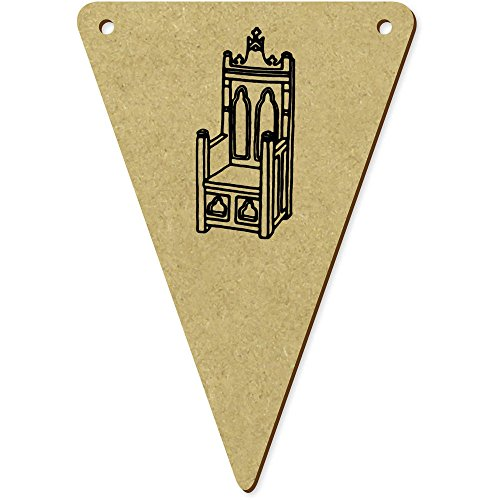 ttelalterlicher Thron' Wimpel / Banner aus Holz (BN00043406) ()