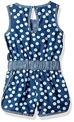 Limited Too Girls' Sleeveless Denim Romper, Blue, 18M
