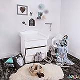 KAGU hochwertiger Wickeltischaufsatz Wickelaufsatz 78x80x10cm Weiß Wellenform