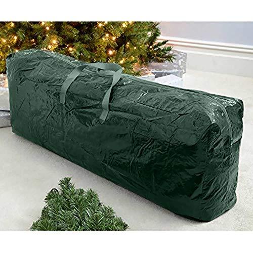 f9b6b2b186 Bakaji Christmas Custodia per Albero di Natale Sacco Porta Alberi in  Plastica Verde Misure 102x18x16,