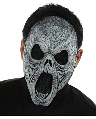 Dämonen Maske als Halloween & Horror Maske | Halbmaske Vinyl (Dämon Halloween Masken)
