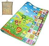 Tappeto Ripiegabile con Animali Tappeto Bambini Tappeto Puzzle Bambini Giochi per Cameretta Bambini Tappetino, Pavimento Antitrauma Tappeto Gioco 180_x_200_cm - Animale