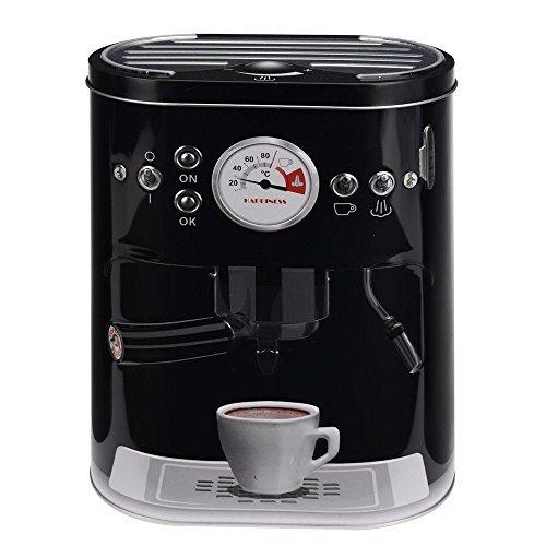 Retro Kaffeemaschine Küche Kuchen Tee Kaffeedose Geschenk-Box schwarz