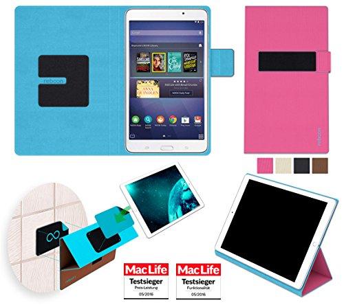 reboon Hülle für Samsung Galaxy Tab 4 Nook 7 Tasche Cover Case Bumper   in Pink   Testsieger (Nook 7 4 Galaxy Samsung Tab)