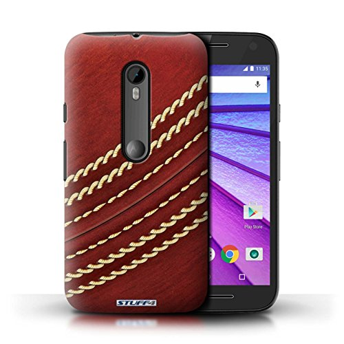 Stuff4® Hülle/Hülle für Motorola Moto G (2015) / Kricket Muster/Sport Bälle/Ball Kollektion (G Phone Cricket Moto)