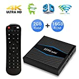 H96 Mini Android 7.1 TV Box Quad Core Smart TV Box de 2GB RAM+16GB ROM con Bluetooth 4.0 Soporta WiFi 2.4/5.0GHz /Ultra Full HD/4K H.265