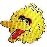 Aufnäher / Bügelbild - Vogel Sesamstraße - gelb - 8,7 x 7,4 cm - Patch Aufbügler Applikationen zum aufbügeln Applikation Patches Flicken