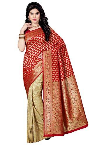 Rani Saahiba Banarasi Silk Saree ( SKR3402_Red - Beige )