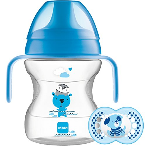 Succhietto MAM Learn to drink Cup, 150 ml, 6 mesi, blu
