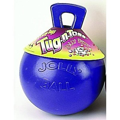 Jolly Pets Tug-n-Ball, Farbe: Violett, Größe: 6x 4.5x 4.5D -