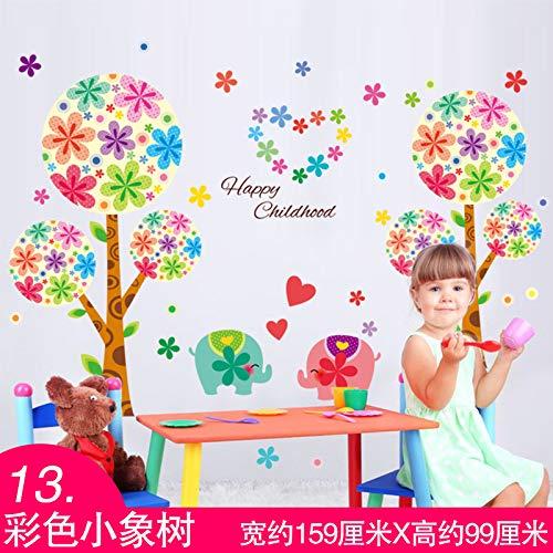 Yirenfeng Cartoon Niedlichen Kinderzimmer Baby Schlafzimmer Dekorationen Selbstklebende Tapeten Tapete Ballon Regenbogen Aufkleber, M