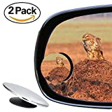 Blind Spot Mirrors, Senwow Convex Round HD Glass Wide Angle 360°Rotatable Adjustable Stick-On RearView for Universal Car SUV Trucks Motorcycle Van Fit (2 Pack)