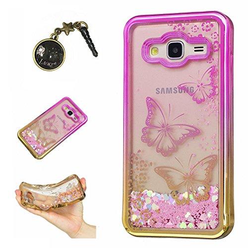 Preisvergleich Produktbild Laoke für Samsung Galaxy J3 (2016) J310 Hülle Schutzhülle Handy TPU Silikon Hülle Case Cover Durchsichtig Gel Tasche Bumper ( + Stöpsel Staubschutz) (6)