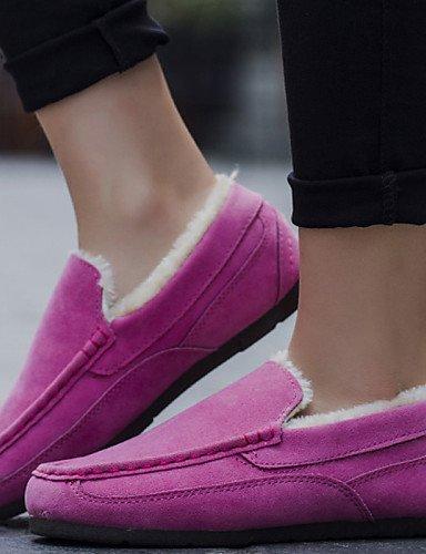 ZQ Damenschuhe - Ballerinas - B¨¹ro / L?ssig - Kunststoff / Leinwand / T¨¹ll - Flacher Absatz - Ballerina / Schneestiefel -Schwarz / Rosa / pink-us6.5-7 / eu37 / uk4.5-5 / cn37