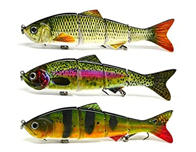 Sfenix Fishing Lures 5inch(12.5cm)/25g Multiple Colours Available Jointed Life-like Swimbaits Crankbaits for Pike Zander Sea Fishing Perch Bass by Sfenix