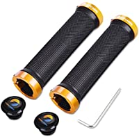 TOPCABIN® Double Lock on Locking Bicycle Handlebar Grips Cycle Bicycle Mountain Bike BMX Floding