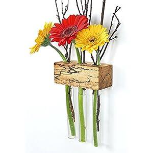 Fenstervase Buche gestockt 3er Blumenvase