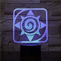 Lampe LED Blizzard Hearthstone Logo Changa Color USB Veilleuse et Décoration
