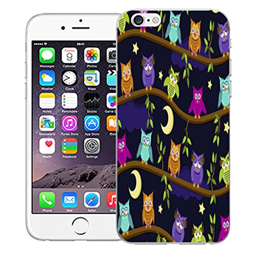 "Mobile Case Mate iPhone 6 4.7"" inch clip on Dur Coque couverture case cover Pare-chocs - Rose aries Motif moon owls"