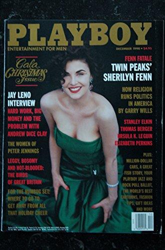 PLAYBOY US 1990 12 STANLEY ELKIN THOMAS BERGER URSULA K. LEGUIN ELIZABETH PERKINS Morgan Fox Sherilyn Fenn Jay Leno