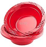 12ciotole rosse in plastica - 340,2 g / 15cm, ideali per feste