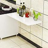 LINrxl Wandklapptisch Home Kleine Wohnung Küchenkonsole Wandtisch Wandbehang Computertisch Wand Einfacher Schreibtisch (Color : White, Size : 70 * 50cm)