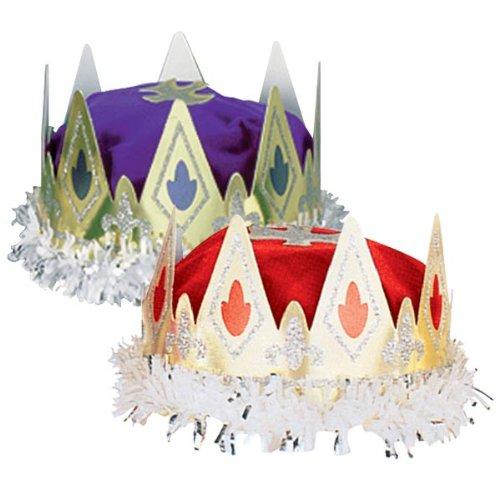 Beistle 66111-PL - K-nigliche Queens Crown - Purple-Packung mit 12 St-ck