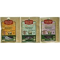 Field Trip Jerky Paquete de variedad de best-sellers de viaje de campo, todo carne de vacuno sin gluten natural, teriyaki # 23 + honey spice # 11 + original # 3