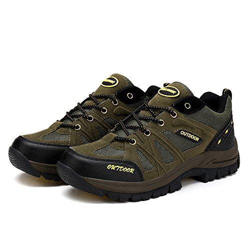ASHION Herren Wanderschuhe Outdoor-Sportschuhe Herren Trekking Schuhe Grün