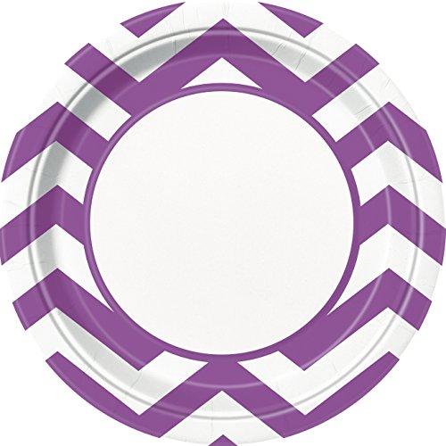 23cm-purple-chevron-party-plates-pack-of-8