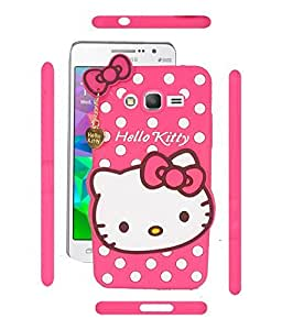 Cute hello kitty soft silicone back case cover for Samsung galaxy J5