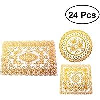 BESTONZON 24pcs manteles de mesa a prueba de calor antideslizante manteles de mesa Vajilla Coasters Pads para cocina mesa de comedor