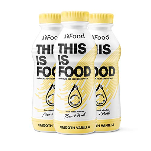 YFood Vanille | Laktose- und glutenfreier Nahrungsersatz | 33g Protein, 26 Vitamine und Mineralstoffe | Leckere Astronautennahrung - 25% des Kalorienbedarfs | Trinkmahlzeit, 12 x 500 ml (1 kcal/ml) - Deckt Liege