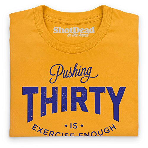 Pushing Thirty T-Shirt, Herren Gelb
