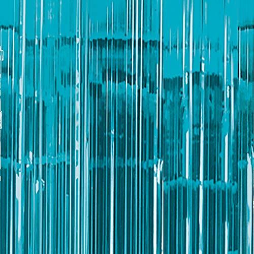 Amscan International-24200-5491cm x 2,43m Caribe azul cortina para puerta