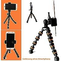 Eurosell 18cm Premium iPhone Smartphone trípode vídeo/foto mesa soporte flexible articulaciones para móvil Android/Apple iPhone 45678S Plus/Samsung Galaxy S 45678/Huawei/HTC/Sony/LG