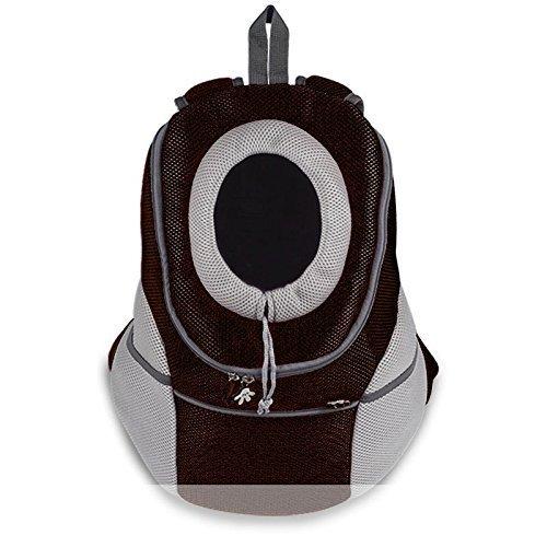 Ducomi® Pets Courmayeur - Sac à Dos Pour Transporter les Chiens et les Chiots en Tissu Elastique et Perméable à l'Air (XL, Noir)