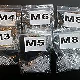 5 x 20er-Paket durchsichtige, klare M8 x 20mm, M6 x 20mm, M5 x 20mm, M4 x 20mm, M3 x 20mm, Bolzen & Muttern – Schrauben aus Plastik, Acryl, Kunststoff