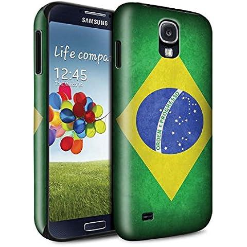 STUFF4 Brillo Duro Carcasa/Funda a Prueba de Golpes para el Samsung Galaxy S4/SIV / serie: Banderas - Brasil/brasileño